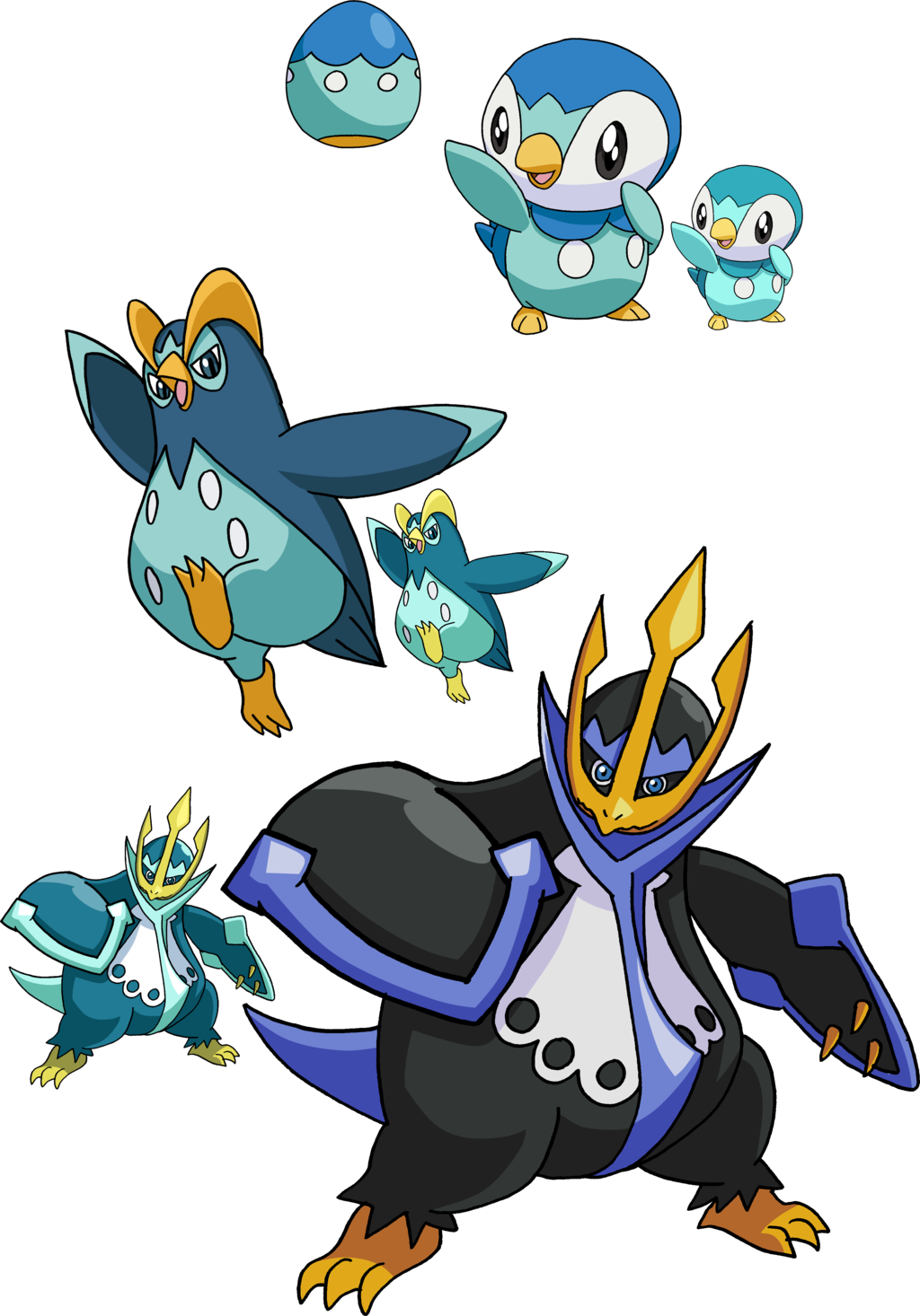 Piplup drawing male. And evolutionary family