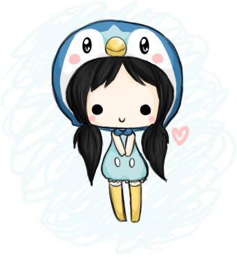 Piplup drawing basic. Chibi by linkitty on