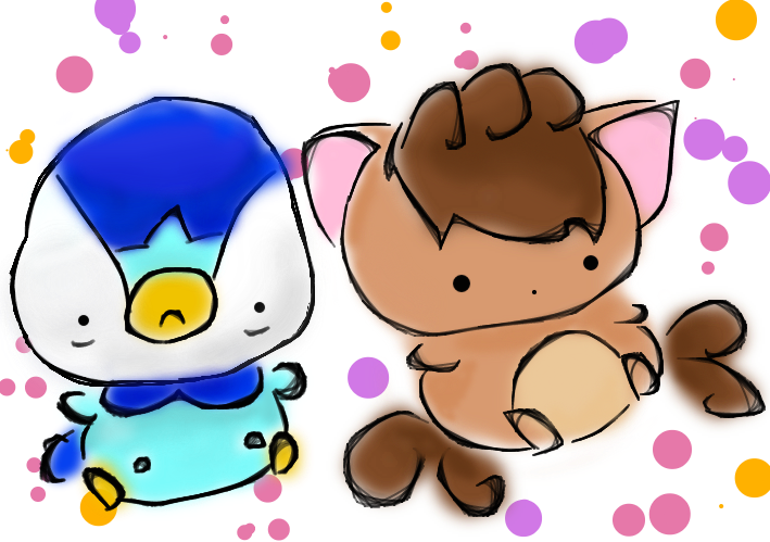 Piplup drawing pokemon. Because when i m