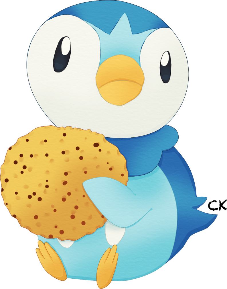 With cookie by clefairykid. Piplup drawing realistic clipart black and white download