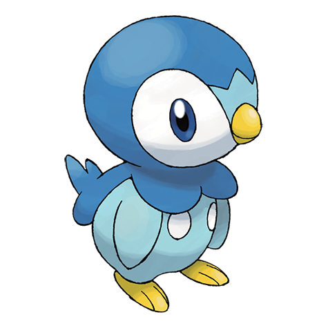 Piplup transparent. Pok dex