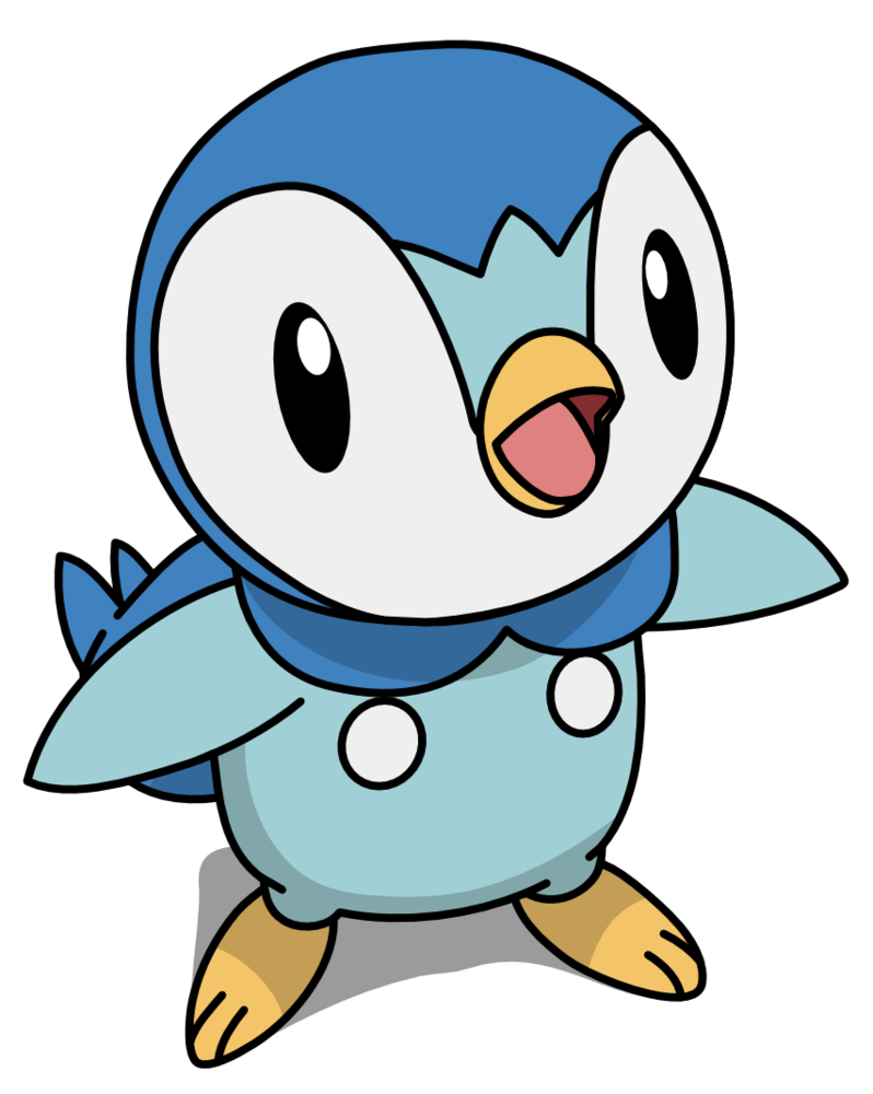 Piplup transparent. By mighty on deviantart
