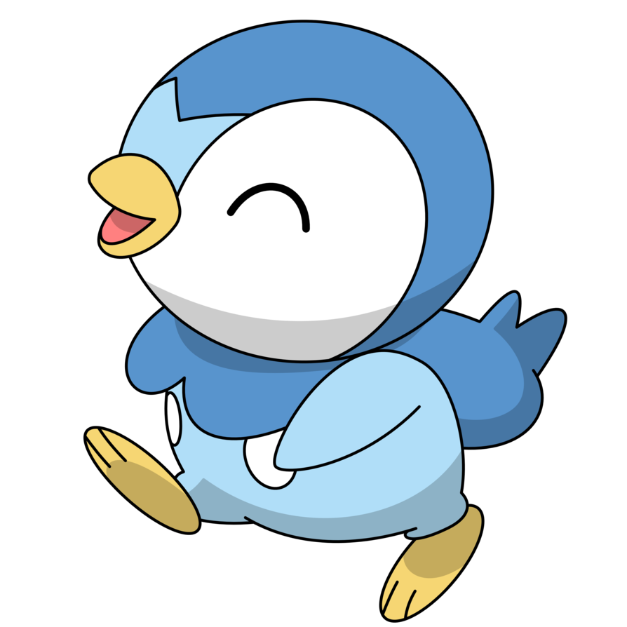 Piplup transparent happy. By kol on deviantart