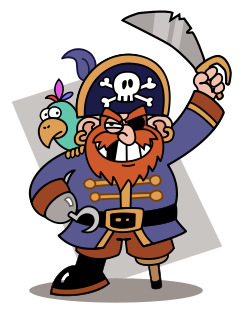 scary clipart pirate