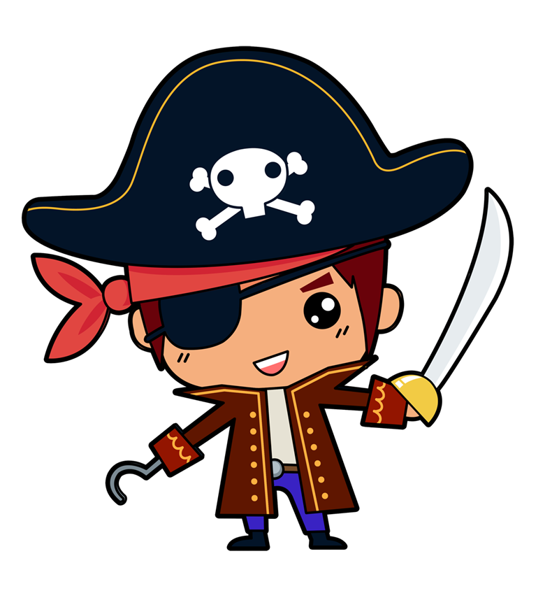 Guns clipart boy. Collection of pirate