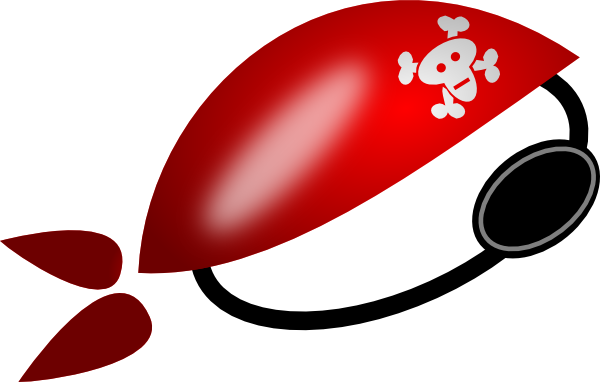 Pirate eye patch png.  black and white