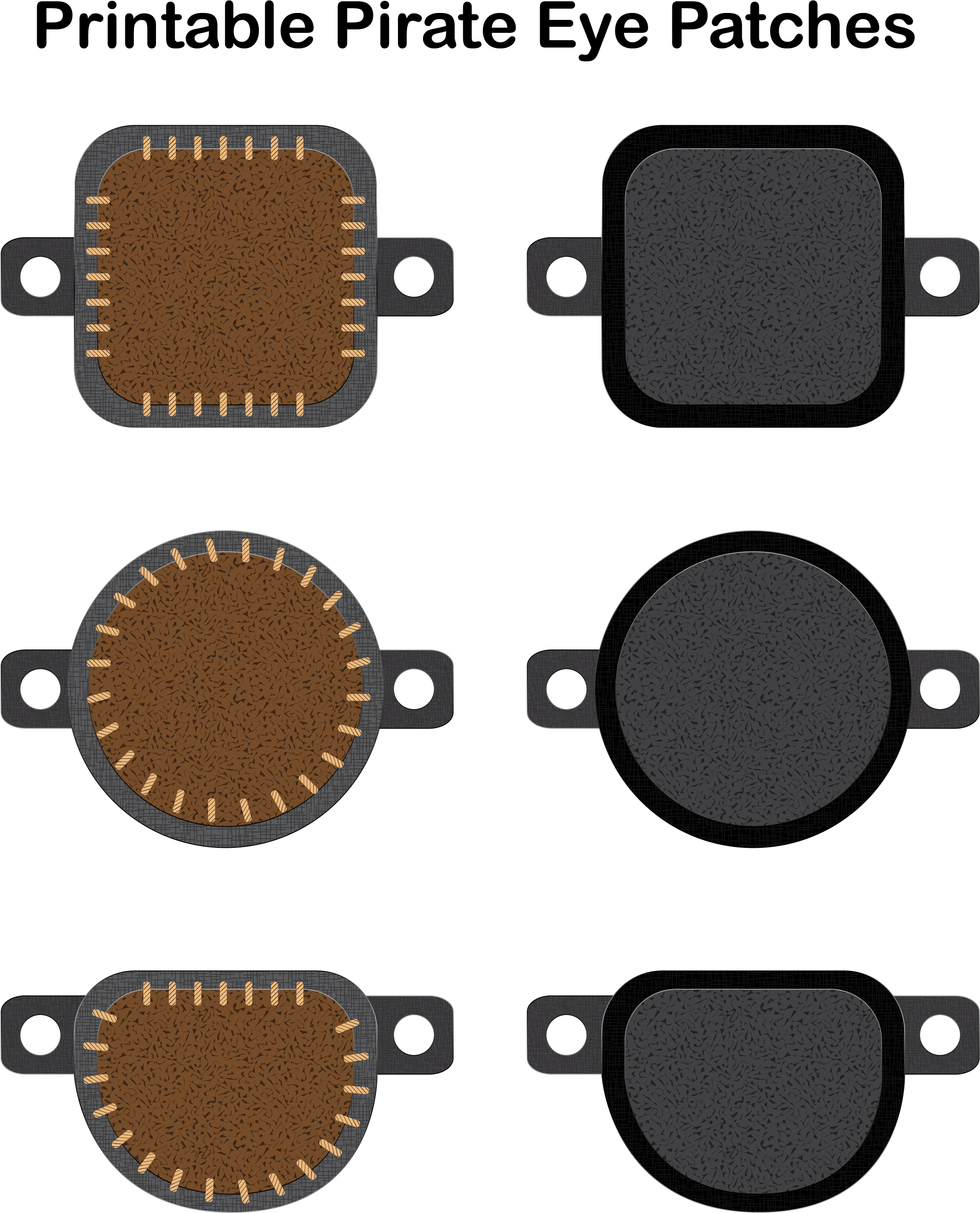 Eyepatch transparent pirate eye. Download hd patch for