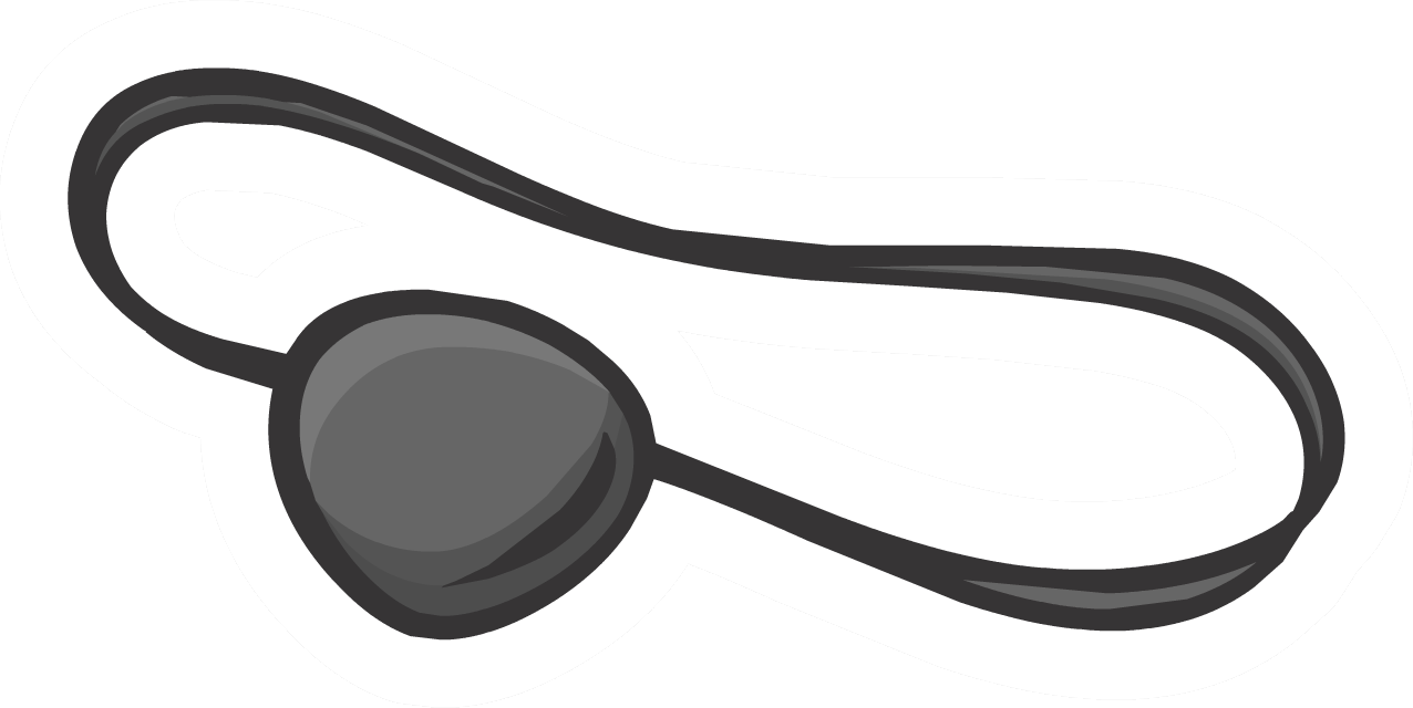Pirate eye patch png. Image pin club penguin