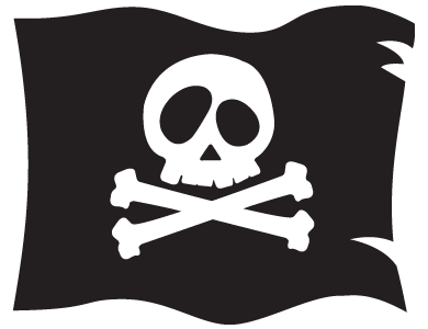 Pirate flag png.