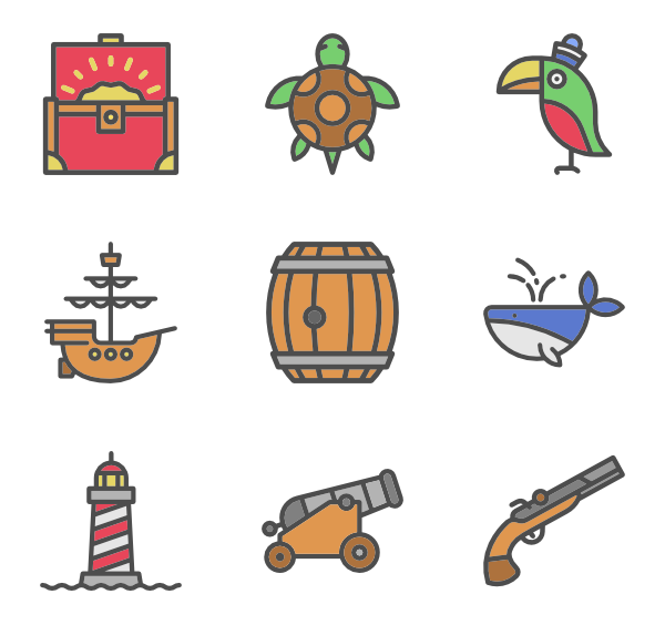 Pirate icon png. Icons free vector set