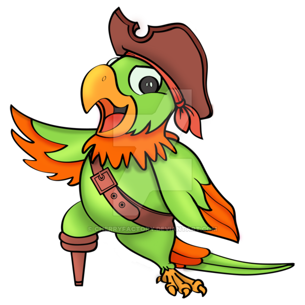 Drawing pirates pirate parrot. Png image