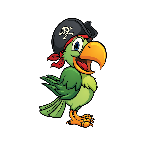 Pirate parrot png. Printed vinyl stickers factory