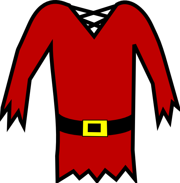 Pirate shirt png. Red clip art at