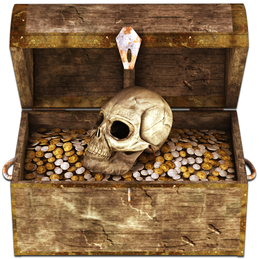 Pirate treasure chest png. Icon icons softicons com