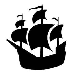 Pirates clipart outline. Pirate ship pattern use