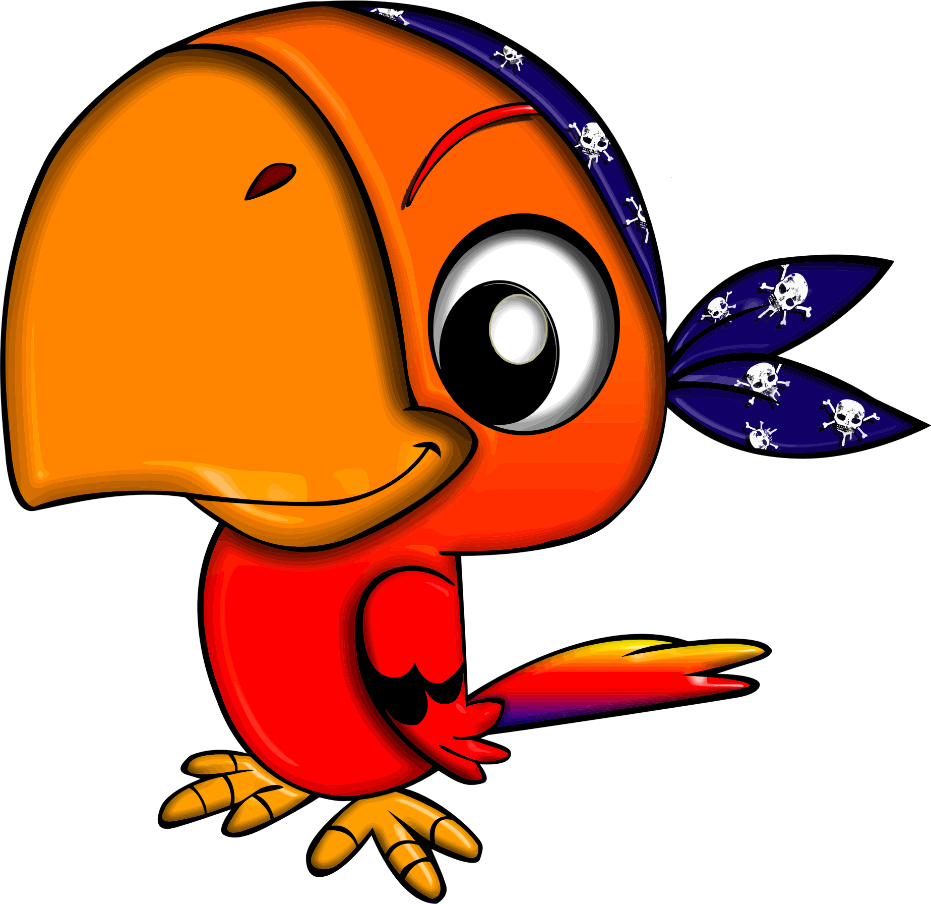 Pirates clipart parrot. Pirate big image png