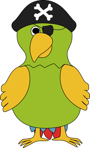 Drawing pirates pirate parrot. Clip art image aplike