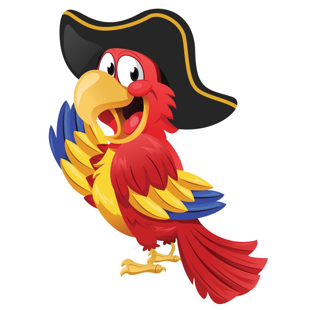 Free png clipart transparent background. Pirate parrot mart
