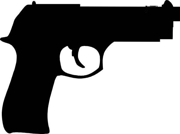 Cartoon handgun png