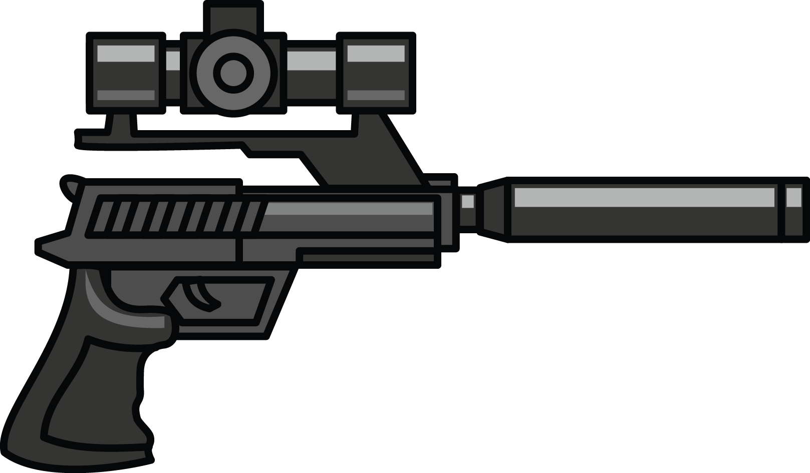 Musket vector two. Pistol clipart double frames