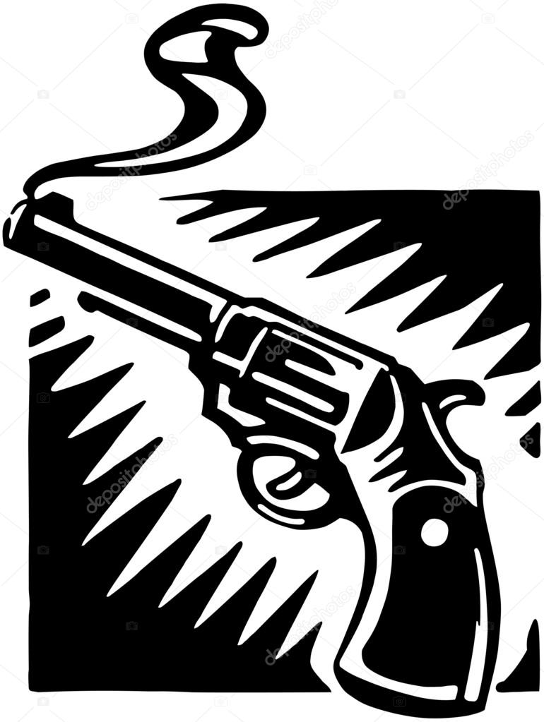 pistol clipart smoking pistol