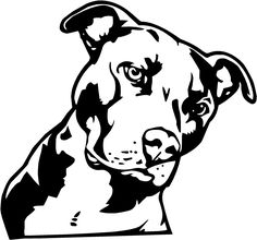Pitbull clipart dog tattoo. Tribal tattoos collection s