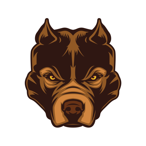 Pitbull dog head png. Printed vinyl angry stickers