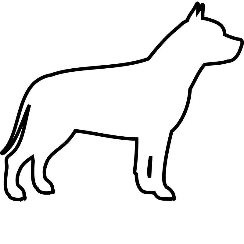 Sales drawing dog. Pit bull rubber stamp