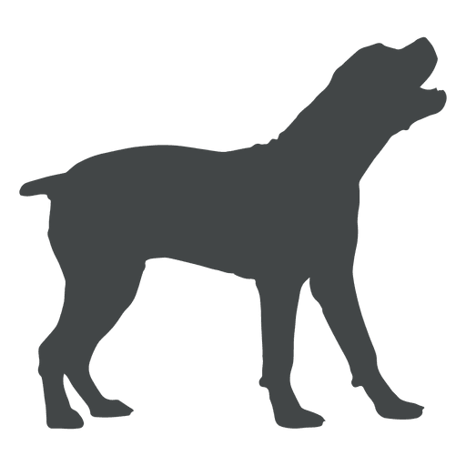 Pitbull silhouette png. Dog howling transparent svg
