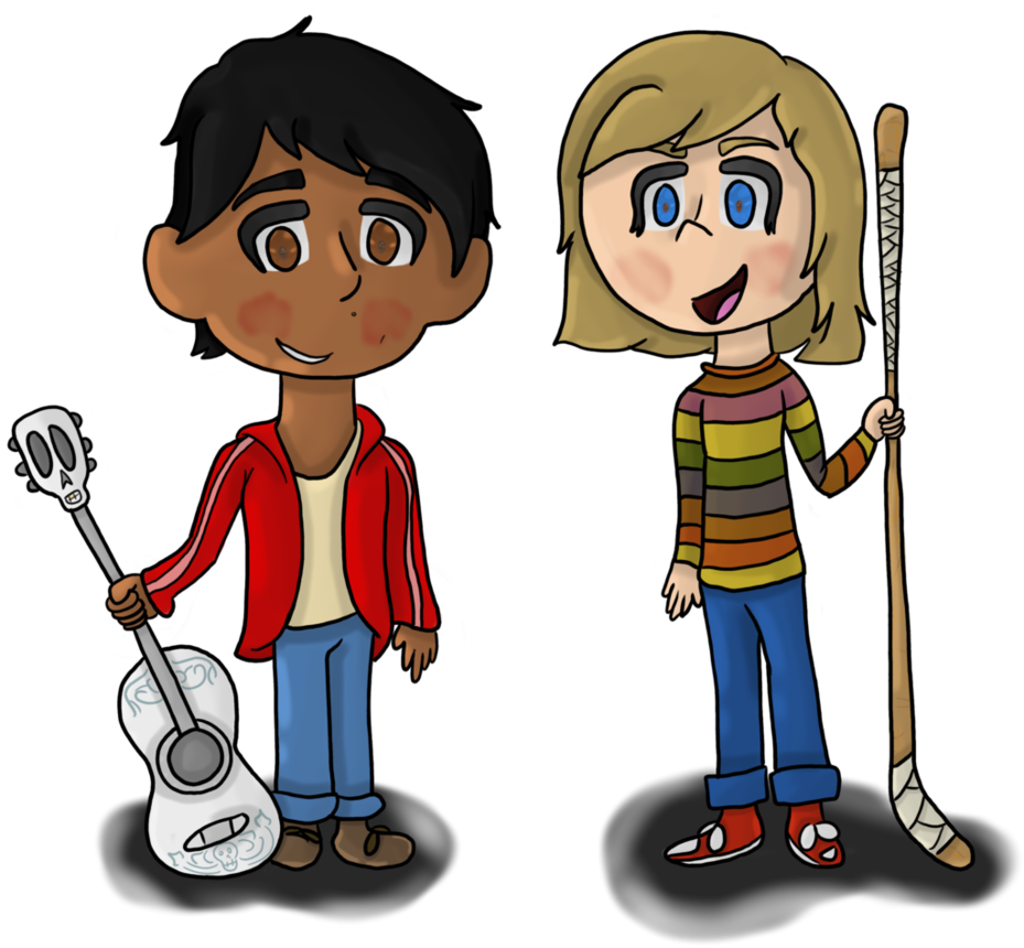 Pixar clip riley. Chibi miguel and by