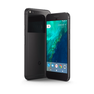Cellphone transparent late. Google pixel phone black