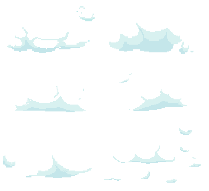 Pixel clouds png. By disabledpaladin on deviantart