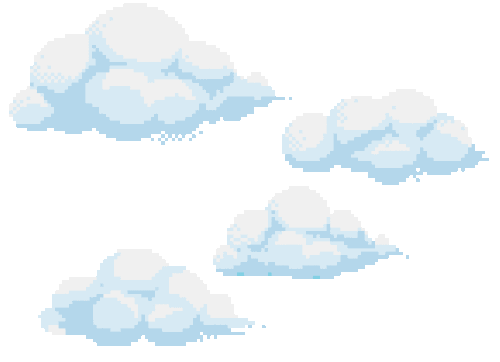 Pixel art clouds png. Image about in transparents