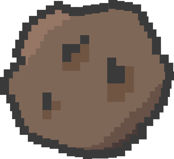 Pixel asteroid png. Illustration updates experimental design