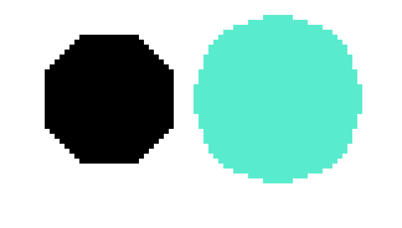 Pixel circle png. Octagon vs art maker