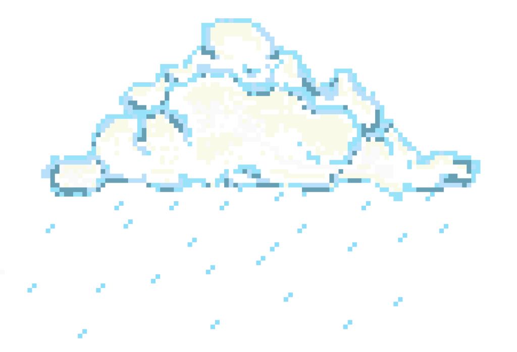 Pixel clouds png. Cloud by phiger on