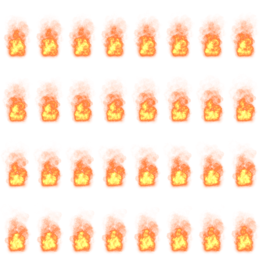 Explosion sprite sheet png. Pixel art fire effects