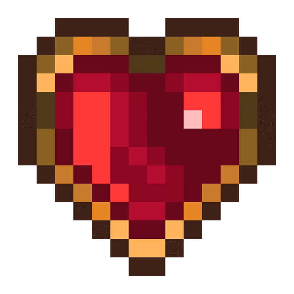Heart sprite png. Free d retro pixel