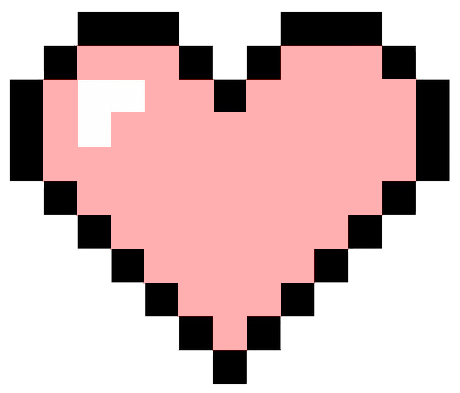 Pink pixel heart png. Image just dance wiki