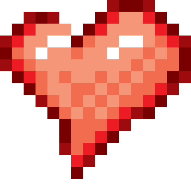 Pixel hearts png. Heart by digizoo on