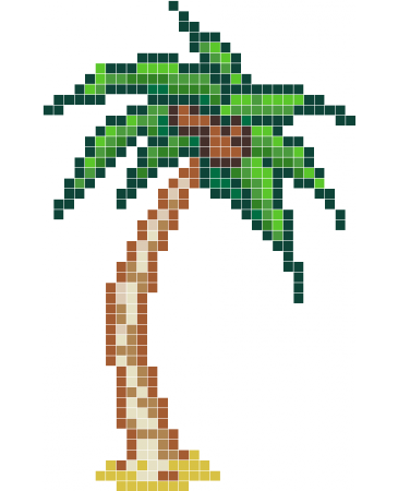Pixel palm tree png. Wall decals stickaz
