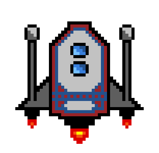 Pixel Spaceship Transparent & PNG Clipart Free Download - YA-webdesign