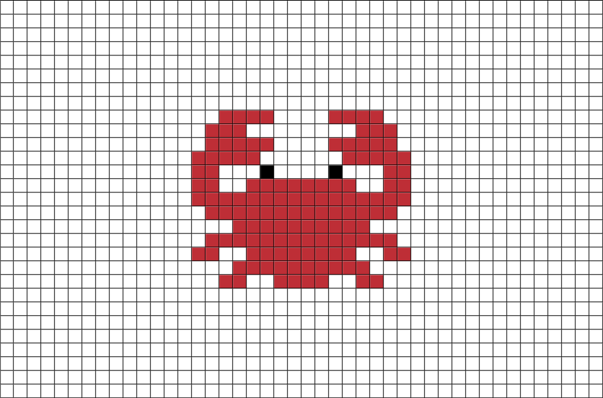 Pixelated crab png. Pixel art pinterest cross