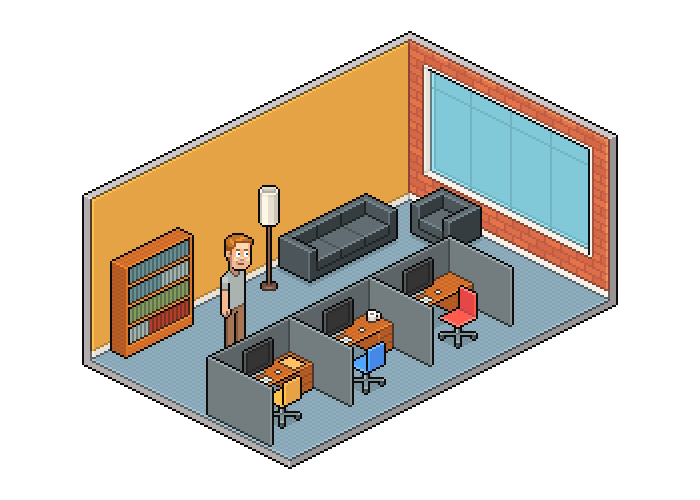 vector offices isometric