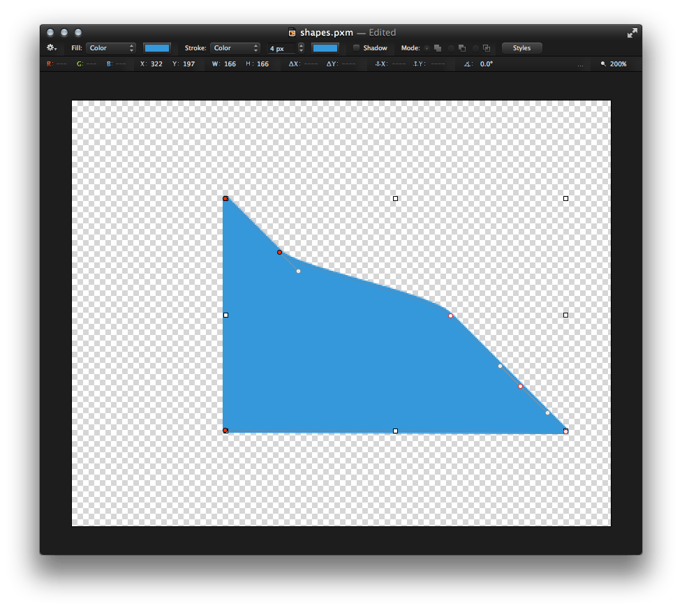 Tip how to create. Pixelmator vector app clip black and white stock