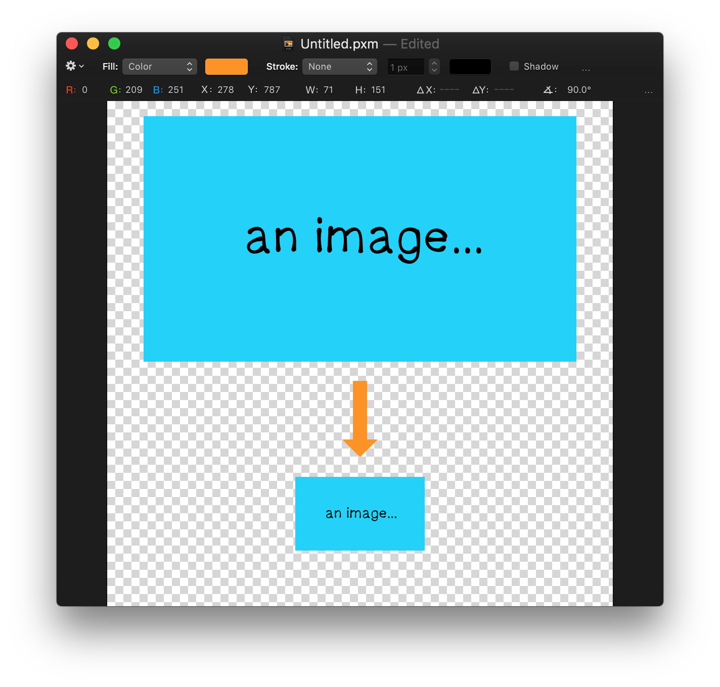 How to make a. Pixelmator vector image royalty free stock