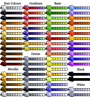 Pixels drawing colorful. Pixel art color palette