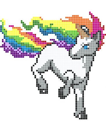 Pixels Drawing Unicorn Transparent Png Clipart Free