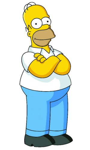 Image homer simpson wiki. Simpsons png clip art black and white stock