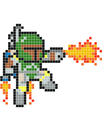 Pixels drawing star wars. Boba fett pixel art